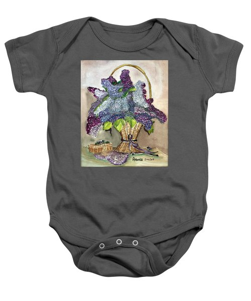 Mothers Day Lilacs Baby Onesie