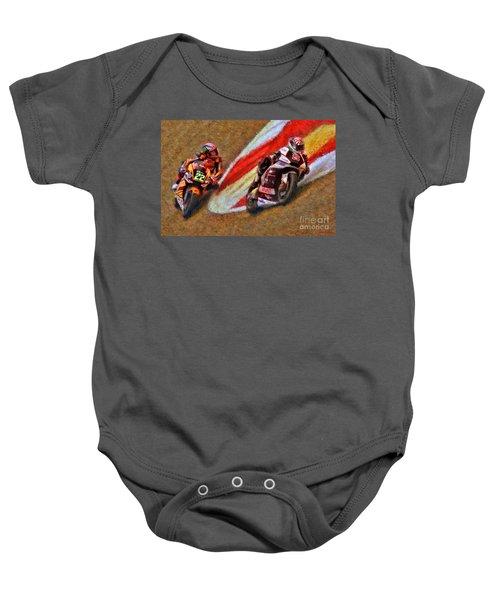 Moto2 Johann Zarco Leads Sam Lowes Baby Onesie