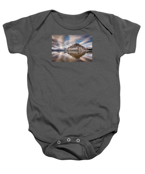 Mount Crowfoot Reflection Baby Onesie