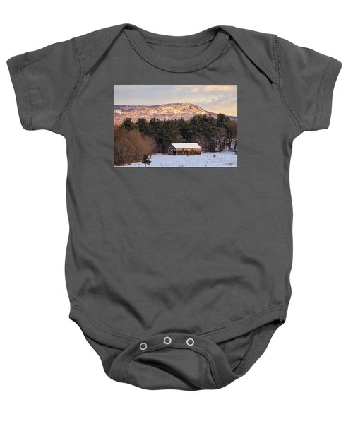 Mount Tom View From Southampton Baby Onesie