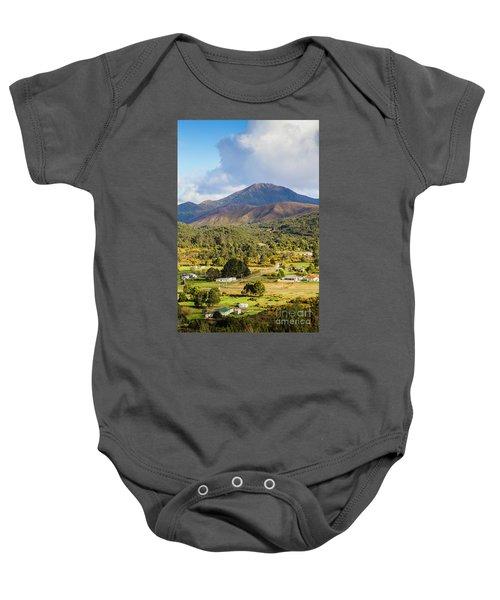 Mount Zeehan Valley Town. West Tasmania Australia Baby Onesie
