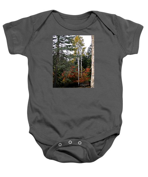 Mountain Autumn Baby Onesie