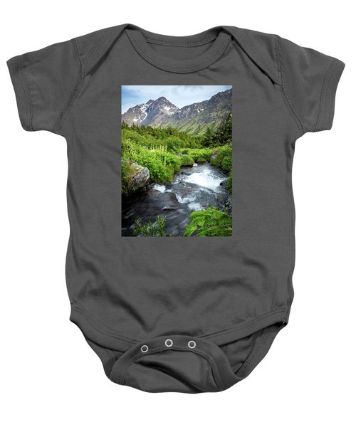 Mountain Creek In Early Summer Baby Onesie