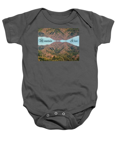 Mountain Kiss  Baby Onesie