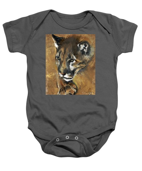 Mountain Lion - Guardian Of The North Baby Onesie