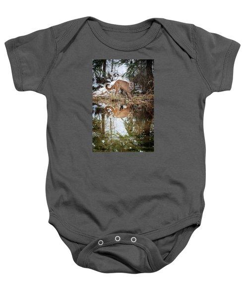 Mountain Lion Reflection Baby Onesie