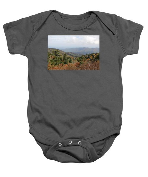 Mountain Long View Baby Onesie