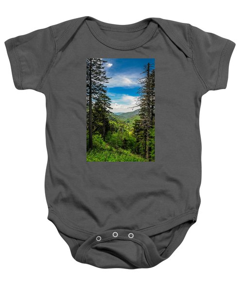 Mountain Pines Baby Onesie