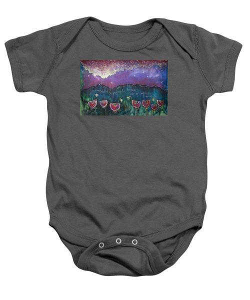 Mountain Poppies Baby Onesie