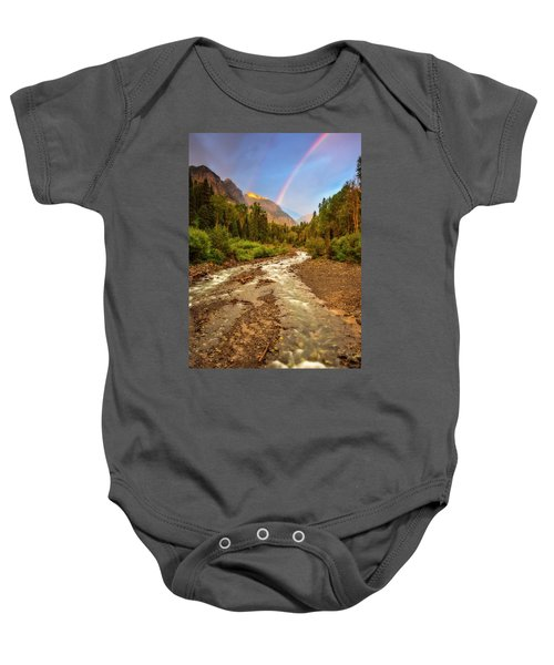 Mountain Rainbow Baby Onesie