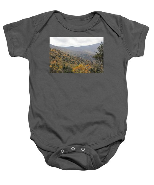 Mountain Side Long View Baby Onesie