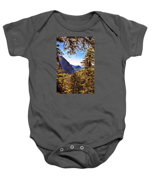 Mountain Views Baby Onesie by Anthony Baatz