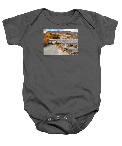 Mountains In The Back Yard Baby Onesie