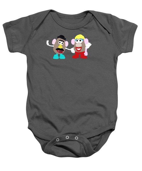Mr. And Mrs. Potato Head Baby Onesie by Priscilla Wolfe