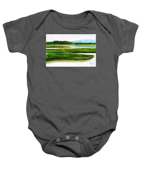 Mt Desert Island Baby Onesie