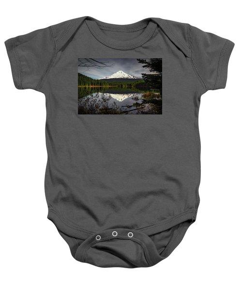 Mt Hood Reflection Baby Onesie