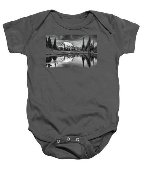 Mt Rainier In Reflection Baby Onesie