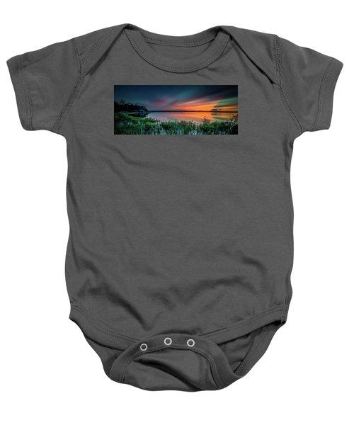 Mud Bay Sunset 4 Baby Onesie