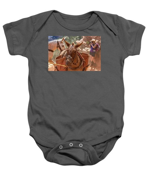 Mule Train On The South Kaibab Trail Baby Onesie