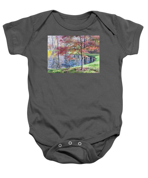 Multi Color Japanese Maple Baby Onesie
