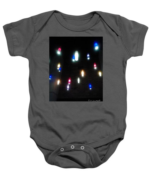 Multi Colored Lights Baby Onesie