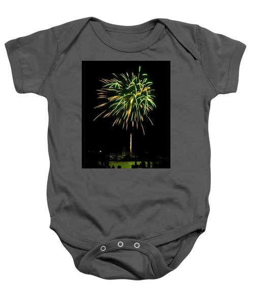 Baby Onesie featuring the photograph Murrells Inlet Fireworks by Bill Barber