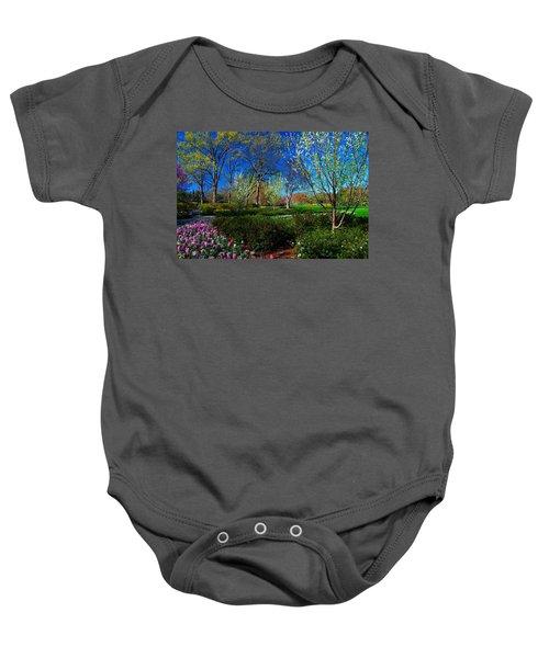 My Garden In Spring Baby Onesie
