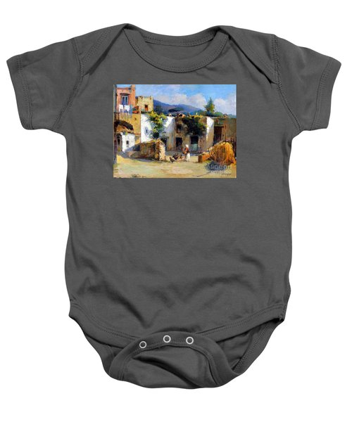 My Uncle Farm House Baby Onesie