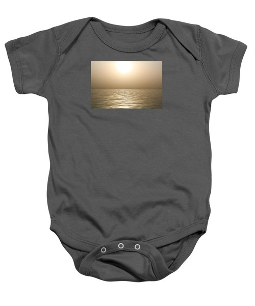 Mystery Sandstorm Sunset- The Red Sea Baby Onesie