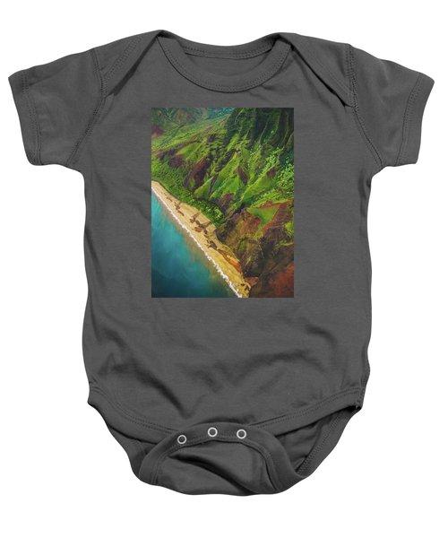 Na Pali Coast Aerial Baby Onesie