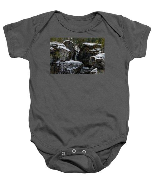 Nairn Falls, Winter Baby Onesie