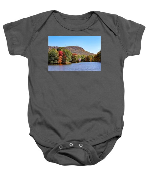 Nashawannuck Pond Fall Colors Baby Onesie