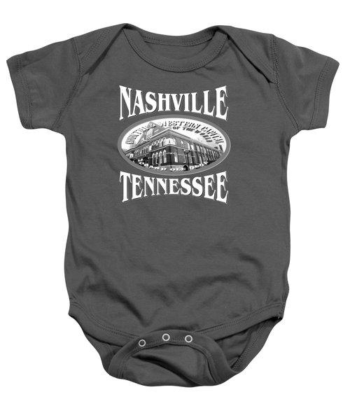 Nashville Tennessee Design Baby Onesie