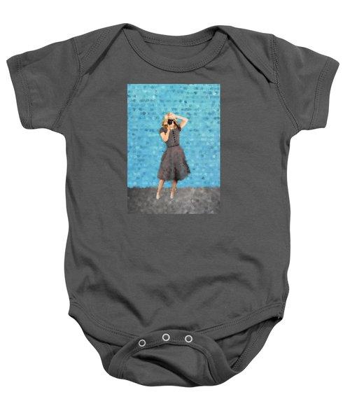 Baby Onesie featuring the digital art Natalie by Nancy Levan