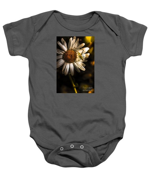 Nature Fine Art Summer Flower With Insect Baby Onesie