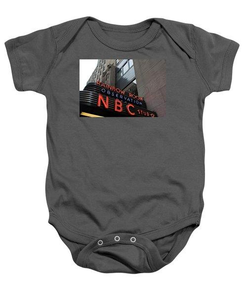Nbc Studio Rainbow Room Sign Baby Onesie