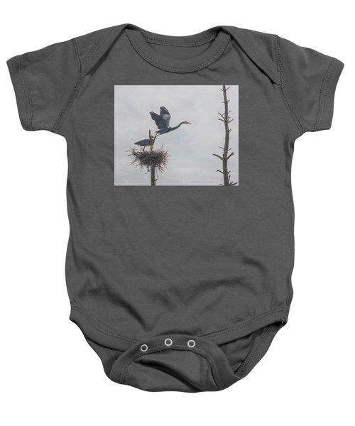 Nesting Great Blue Heron Baby Onesie