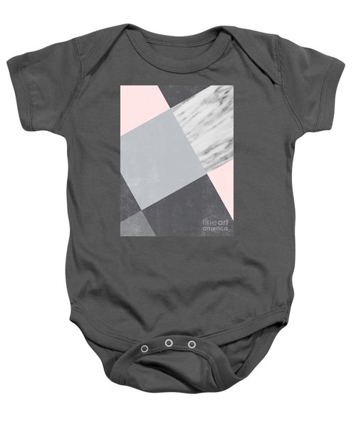 Neutral Collage With Marble Baby Onesie