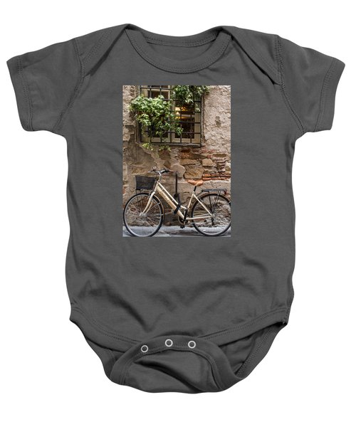 New Bike In Old Lucca Baby Onesie