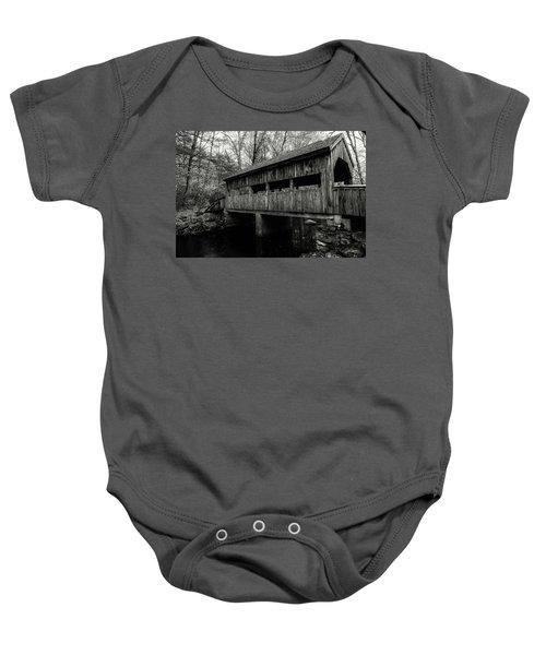 New England Covered Bridge Baby Onesie