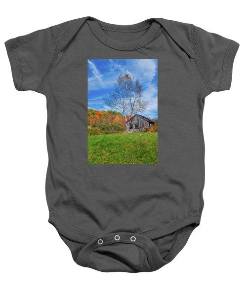 New England Fall Foliage Baby Onesie