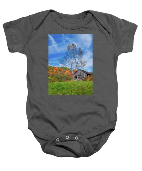 New England Fall Foliage Baby Onesie