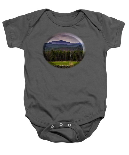 New England Spring In Oil Baby Onesie