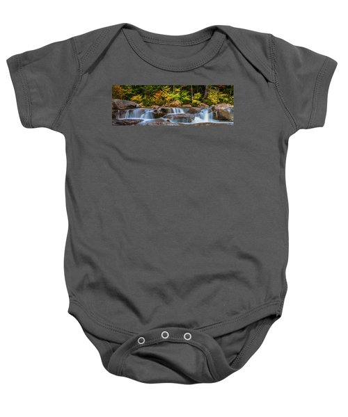 New Hampshire White Mountains Swift River Waterfall In Autumn With Fall Foliage Baby Onesie