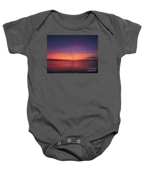 New Jersey Shore Sunset Baby Onesie