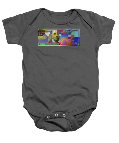 New Pop-colorized One Hundred Us Dollar Bill Baby Onesie