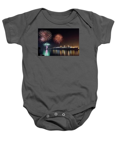 New Years With The Queen Mary Baby Onesie