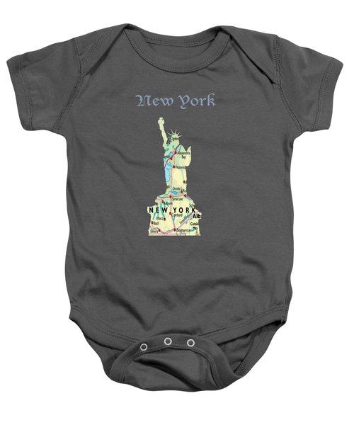 New York Baby Onesie by Art Spectrum