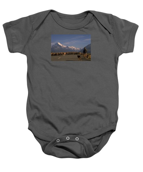 New Zealand Mt Cook Baby Onesie by Travel Pics