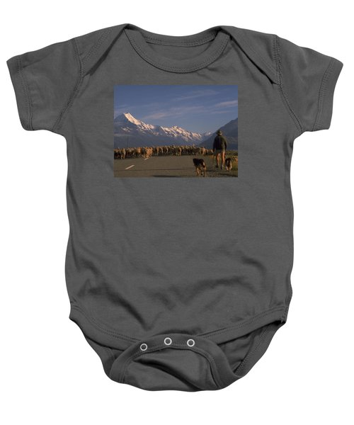 New Zealand Mt Cook Baby Onesie